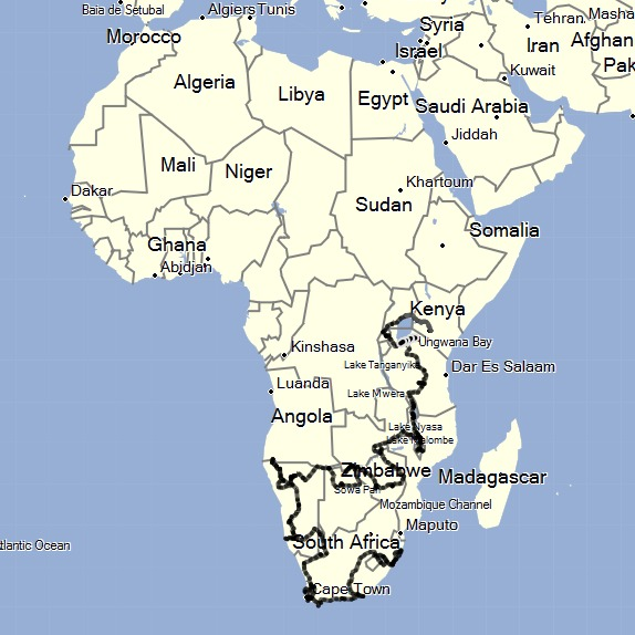 Africa Overland Route