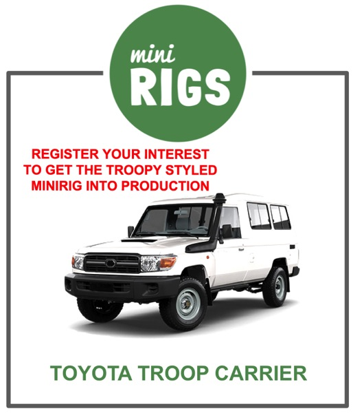 Minirig toyota troop carrier model register