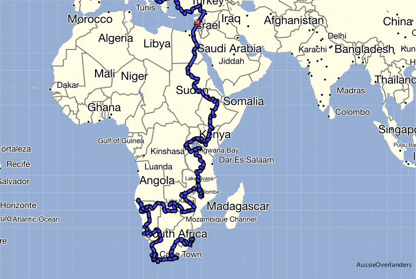 Africa Overland Route - Aussie Overlanders A